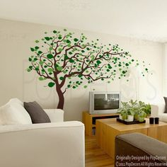 Tree Wall Decals Baby Room Decal Vinyl Wall Decal by PopDecors, $85.00