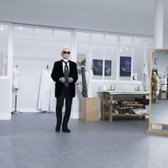 Karl Lagerfeld at the end of Day Two of the Paris Fashion Week (1017399)