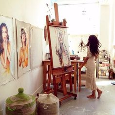 beautiful art studio space