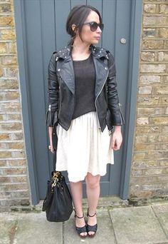 Vintage Cream A-line Skirt