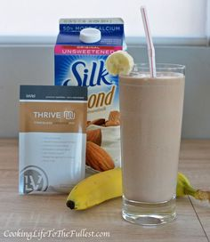 Thrive by Le-Vel Monkey Shake. Thrive by Le-Vel Thrive Diet, Thrive Le Vel, Healthy Drinks, Get Healthy, Healthy Foods, Healthy Breakfasts, Eating Healthy, Healthy Recipes, Thrive Shake Recipes