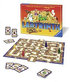 Take part in an a-maze-ing adventure with the classic moving maze game Labyrinth Kids. From Ravensburger. Family Board Games, Family Boards, Board Games For Kids, Labyrinth Board Game, Maze Game, Thing 1, Family Game Night, Adult Games, Play To Learn