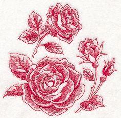 Rose Botanical (Toile)