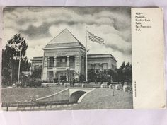 Vintage Golden Gate Park Museum San Francisco, CA postcard unposted early 1900s