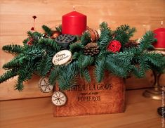 Купить Новогодняя композиция из живой хвои. Счастливого Рождества - новогодняя композиция, новогодний подарок