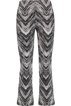 MISSONI Cropped wool-blend jacquard straight-leg pants. #missoni #cloth #pants