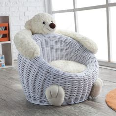 Have to have it. Willow Bear Chair - White - $79.98 @hayneedle.com