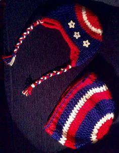 Australian Patriotic Hats - Papa & baby