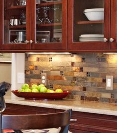 Backsplash: Love it!!! Like this! Though it depends on the kind of counter used.