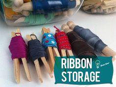 Ribbon & Yarn Storage   Lets Get Crafty! great idea!