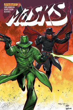 MASKS #8 (of 8) Yep it's the Green Hornet and the Shadow