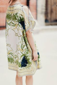 12 Awesome DIY Projects For Spring #refinery29  http://www.refinery29.com/64819#slide4  Silk Kaftan by Park & Cube   Nothing says spring like a kaftan.This simple DIY with an H&M scarf makes us want to be on the beach right now.