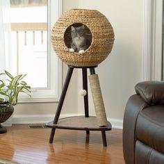Cool Cat Trees, Cool Cats, Diy Cat Tower, Cat Tree Plans, Food Dog, Sauder Woodworking, Cat Tree Condo, Cat Perch, Cat Towers