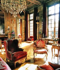 Fine French Furniture in a classic interior.