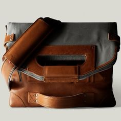 Hand Graft 2Unfold Laptop Bag via Fancy