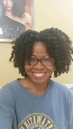 First professionally done two-strand twist out