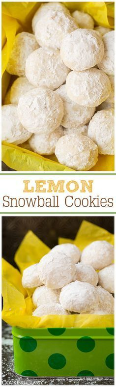 Lemon Snowball Cookies - These cookies are so irresistible! Lemon Snowball Cookies - These cookies are so irresistible! Lemon Desserts, Lemon Recipes, Sweet Recipes, Baking Recipes, Cookie Recipes, Delicious Desserts, Yummy Food, Delicious Cupcakes, Party Recipes