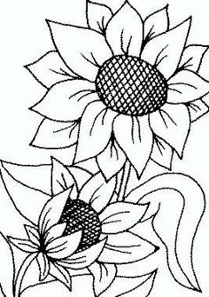 Large Sunflowers Stencil | Designs and Signs | Pinterest ...