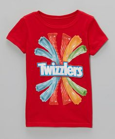 Take a look at this Red 'Twizzlers' Tee - Girls by Freeze on #zulily today!