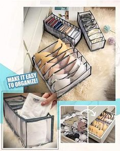 Closet Underwear Organizer helps to create containment and give every tiny garment a proper home!