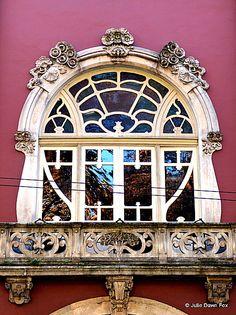 Art Nouveau window, Portugal