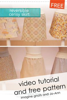 sew: cerisy skirt {video} tutorial || imagine gnats