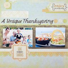 Gratitude Nancy ODell Project Ideas: A Unique Thanksgiving Gratitude Scrapboking Layout Idea
