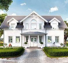 New England Hus, Swedish House, Dream House Exterior, House Extensions, Scandinavian Home, White Houses, House Goals, Exterior Design, Future House