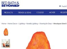 Bed Bath And Beyond Salt Lamp Pleasing Himalayan Salt Lamp Himalayansaltlamp On Pinterest Design Ideas