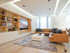 False ceiling with built-in lights
