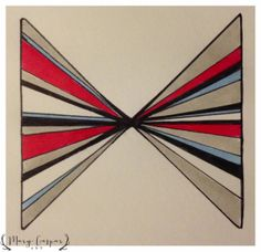 Stripey abstract in marker and pen