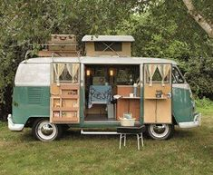 VW Bus/ camper...has a potty,enclosed shower, sink stove, reversible sitting table/ bed, plus a whole lot more.