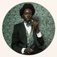 'Frédérick Douglass' by Omar Victor Diop - Photographer 2015, pigment inkjet printing on Harman By Hahnemuhle paper, 90 x 90 cm. Image courtesy Magnin-A