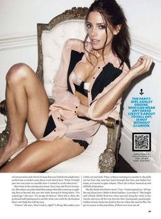American actress Ashley Greene photographed by Brooke Nipar for an editorial of the men's magazine Esquire US for their August 2012 issue. The Twilight Actress looks alluring in lingerie clad outfit. Check out her sizzling stills from the magazine.