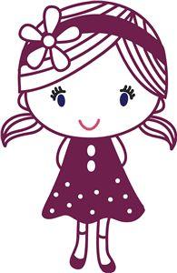 View Design #26025: girl with flower headband