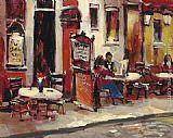 Brent Heighton Sidewalk Cafe painting