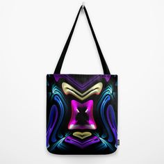 Foldaway Tote - Purple Heart Tote by VIDA VIDA GrrTjE