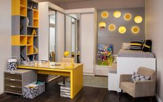 Decor inspired: Preto, cinza e amarelo para o quarto!   Acordei Fashionista!