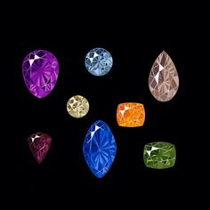 #Amethyst #BlueDiamond #Morganite #CapeDiamond #MandarinGarnet #Umbalite #Sapphire and #Peridot
