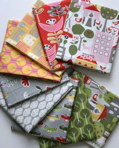 Organic Urban Patch Collection FAT QUARTER Bundle by SewFineFabric, $29.00