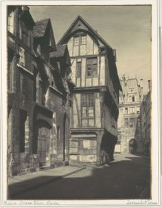 Seriously love this!  Frederick H. Evans (English, 1853-1943), Maison Jeanne d'Arc, Rouen, 1900s, Platinum print
