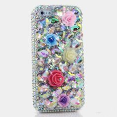 Luxury Women Handmade 3D Colorful Diamond Rhinestone Phone Cover Case For iPhone 4/4S/5/5S/6/6S/7 Plus/Touch 5/6 coque fundas #Affiliate