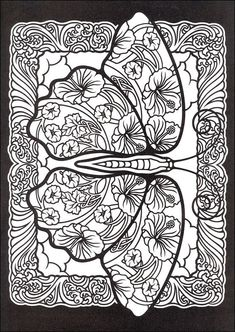 Intricate Butterfly Coloring Pages - Bing Images Free Adult Coloring Pages, Animal Coloring Pages, Coloring Pages To Print, Colouring Pages, Coloring Books, Butterfly Coloring Page, Mandala Coloring Pages, Zentangle Patterns, Sculpture