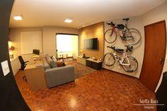 Sala - bike na decoração