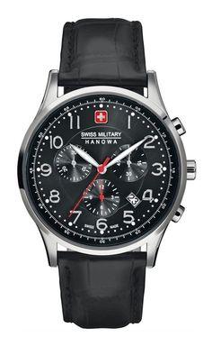 b0c7469942f SWISS MILITARY HANOWA Patriot Horloge - 06-4187.04.007 - 41 mm