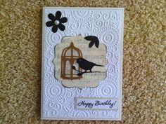 Black and White bird card.