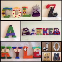 3 Inch Wood Character Letters: Ninja Turtles by IMadeThisCrafts