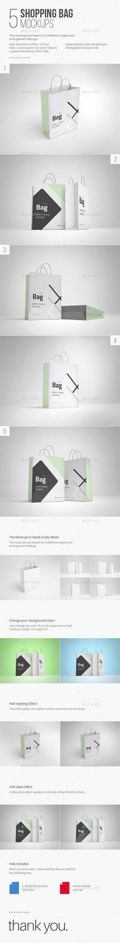5 Shopping Bag Mockups Download here: https://graphicriver.net/item/5-shopping-bag-mockups/9299835?ref=KlitVogli