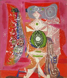 Chinese Dancer, 1949, Byron Browne , oil on fiberboard, 14 x 12 in. (35.6 X 30.5 cm.), Smithsonian American Art Museum, Gift of Patricia and Phillip Frost, 1986.92.8