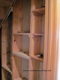 using stud space in walls for building storage - Google Search